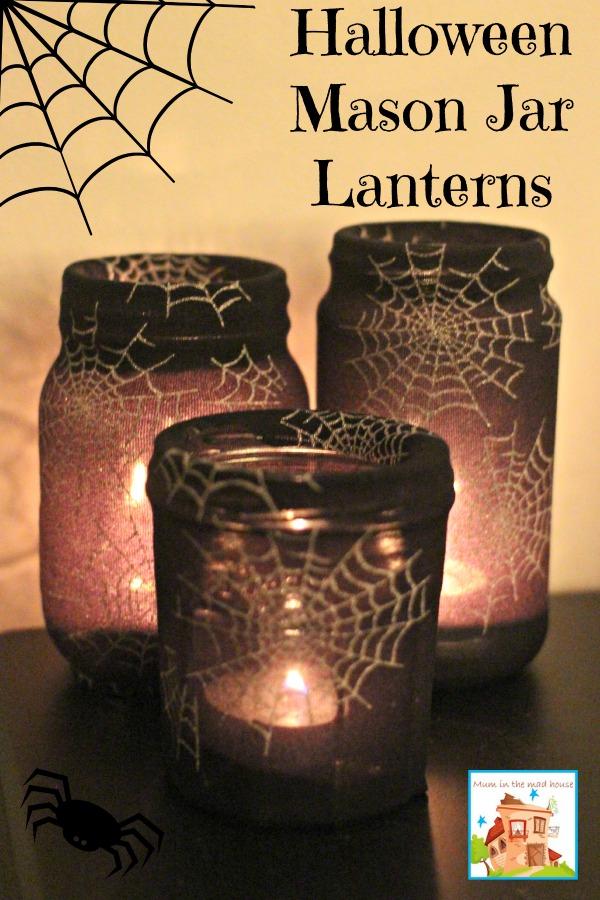 Halloween Crafts Mason Jar Lanterns