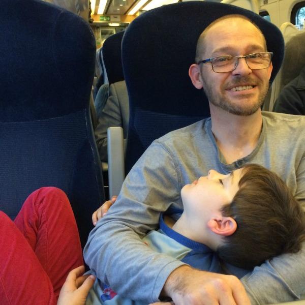 Mini on the train
