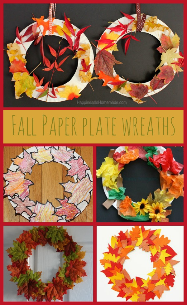 fall paper plate wreaths