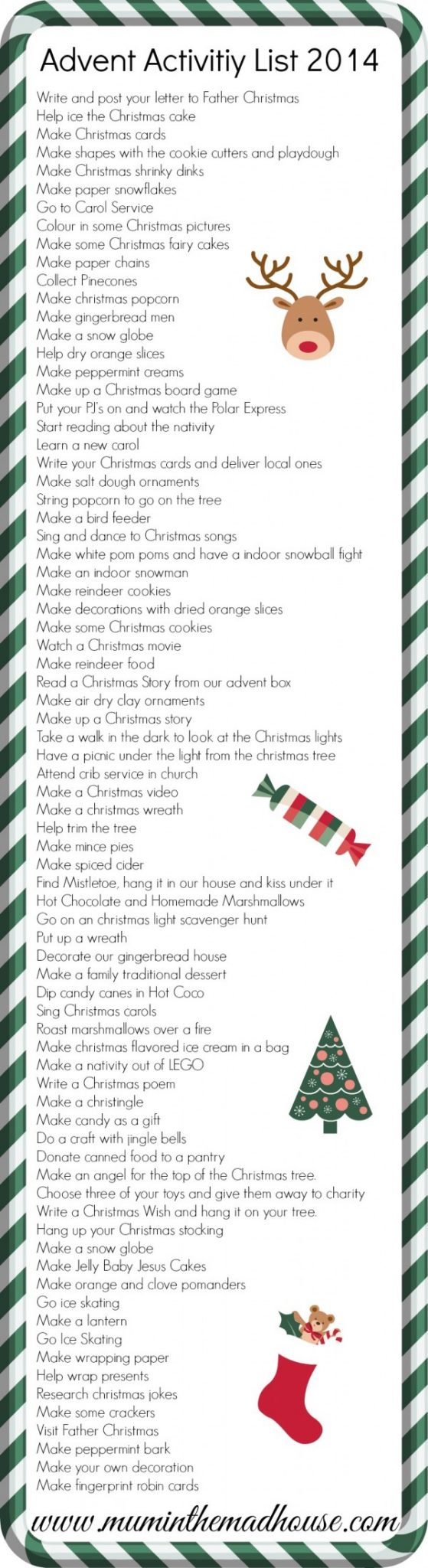 Ultimate advent activity list 2014