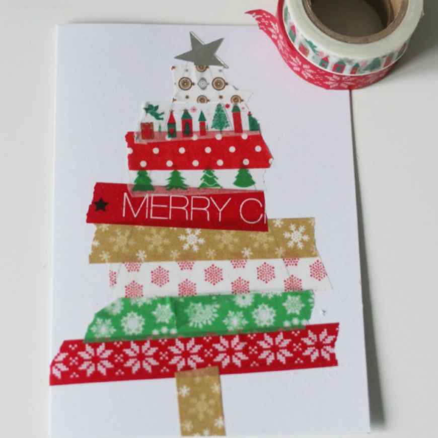 Easy kid made Christmas cards - Mum In The Madhouse
