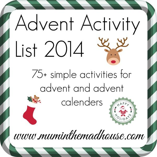 advent activity list 2014