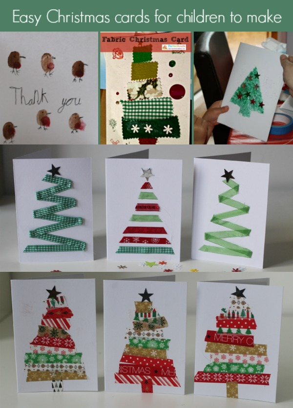 Easy Christmas Cards Designs.Santa Hat Christmas Cards 5 Minute Craft Mum In The Madhouse