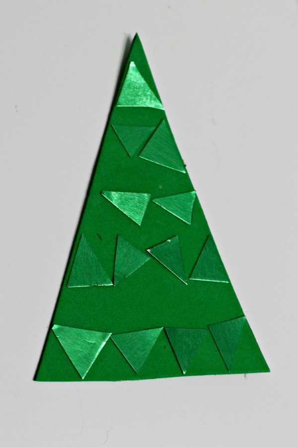 green triangles on the foam