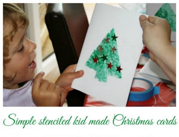 kid made christmas cards