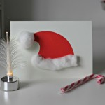 Santa Hat Christmas Cards – 5 minute craft