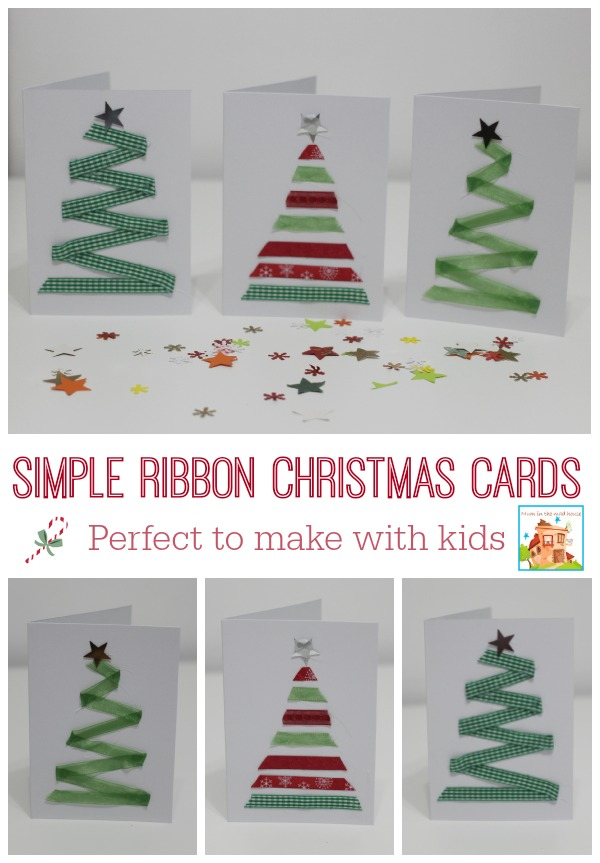 Easy Ribbon Christmas for kids to make - Mum In The Madhouse