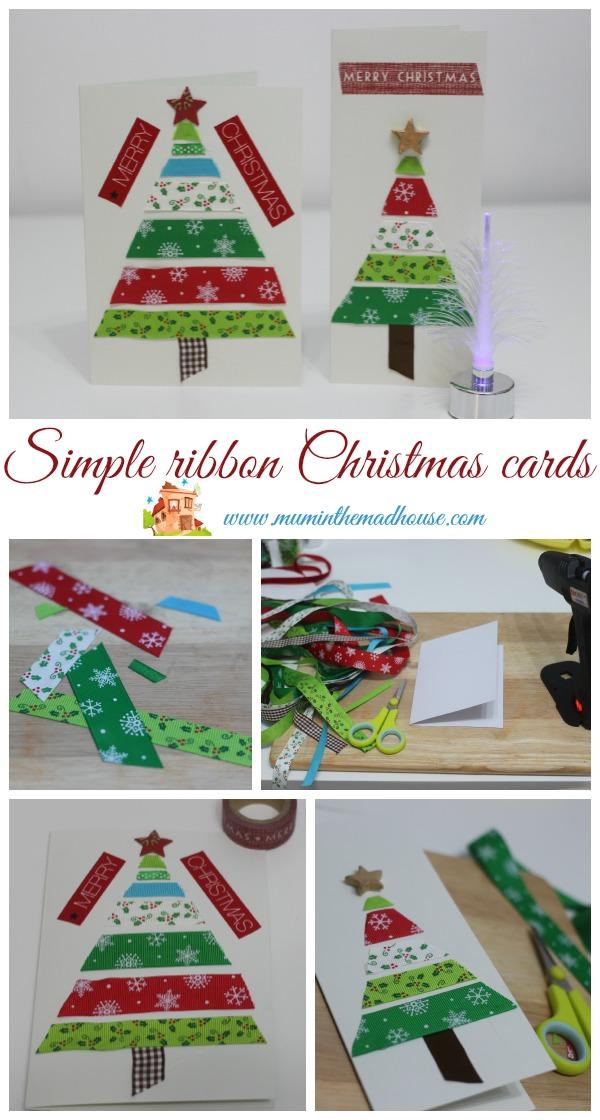 simple ribbon christmas cards