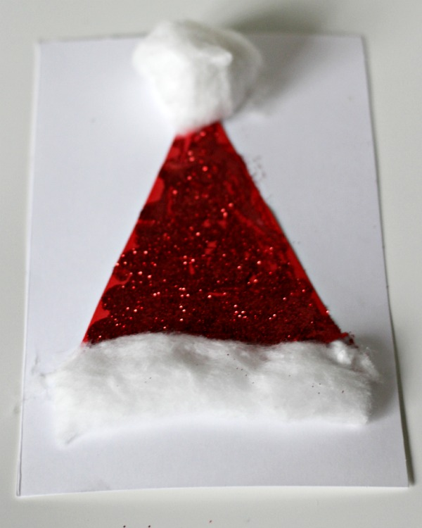 santa hat christmas cards 5 minute craft mum in the madhouse