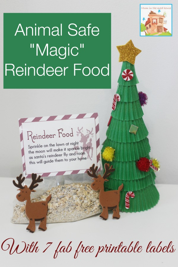 image regarding Reindeer Food Labels Printable called Animal Protected Magic Reindeer food stuff and totally free printable labels