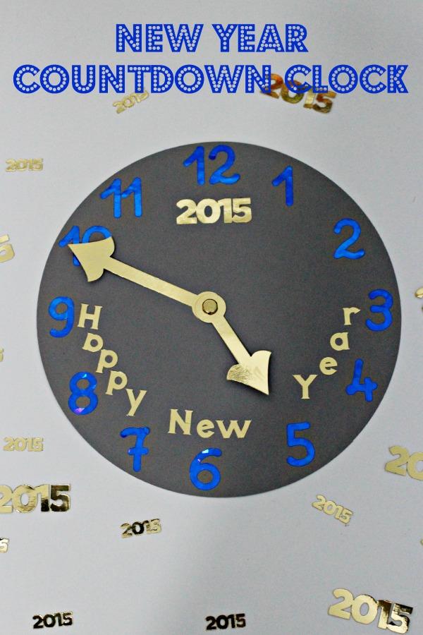 New year countdown clock