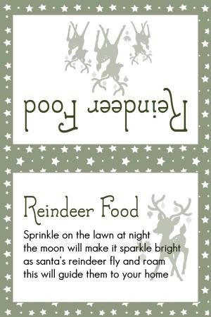 Reindeer Food Dark Green Stars