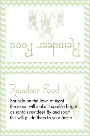 Reindeer Food Light Green Chevron
