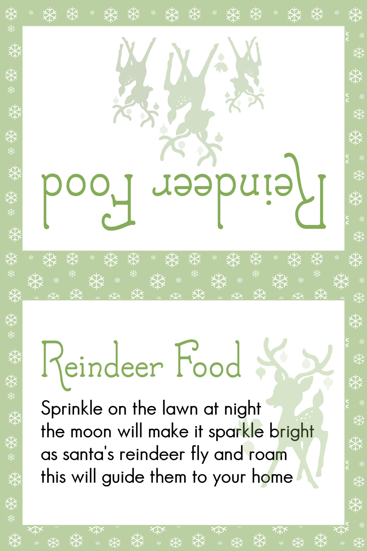 picture relating to Reindeer Food Poem Printable named Animal Harmless Magic Reindeer foods and absolutely free printable labels