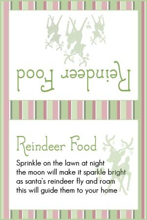 Reindeer Food Stripes