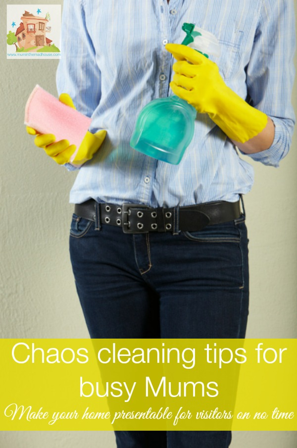 chaos cleaning tips for busy mums