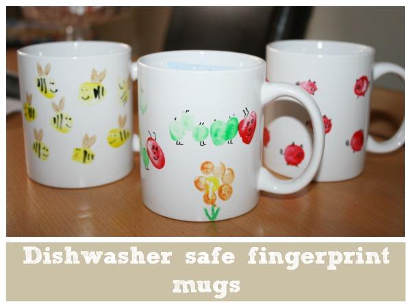 dishwasher safe kids fingerprint mugs
