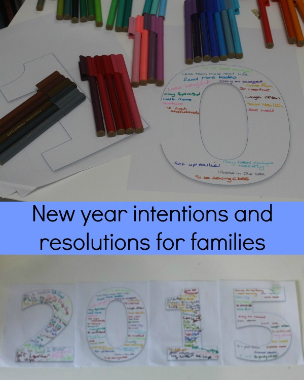 new years resolutions and intentions for families