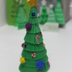 How to make cake case Christmas trees