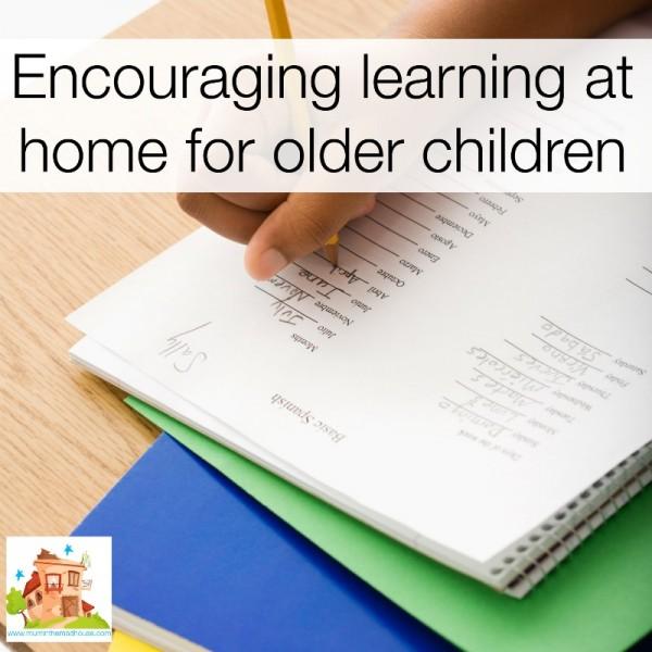 Encouraging learning at home for older children facebook