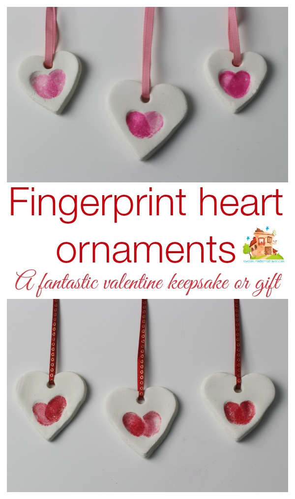 Fingerprint Heart Ornaments Mum In The Madhouse