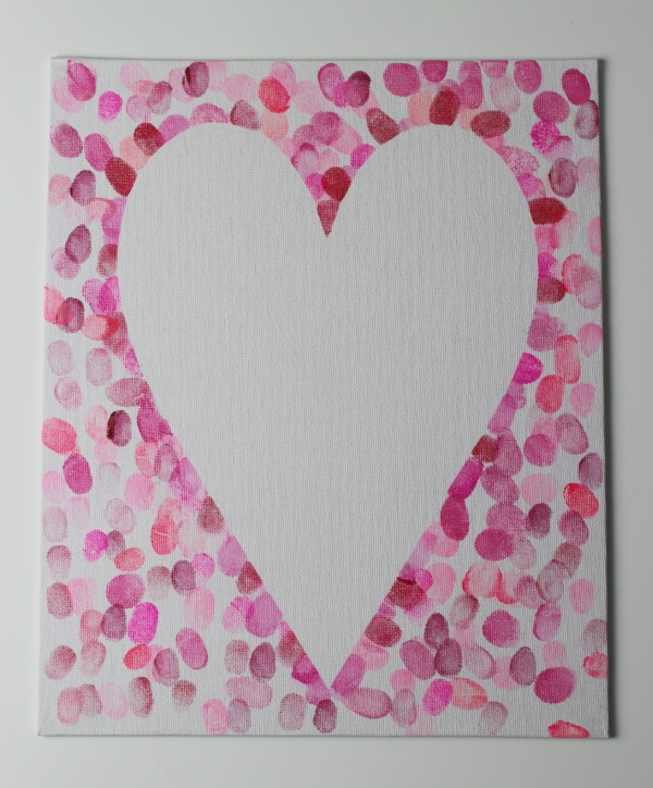 How to make a family fingerprint relief heart art canvas for How to start painting on canvas