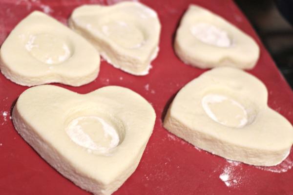Salt dough hearts baking tray