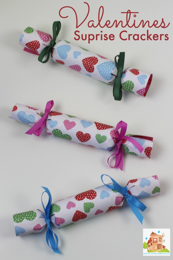Valentines surprise crackers
