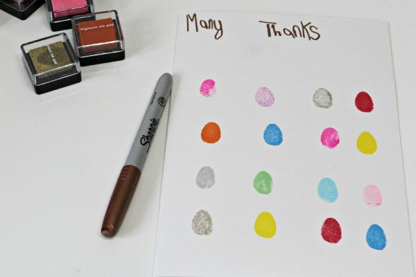 fingerprint thank you cards