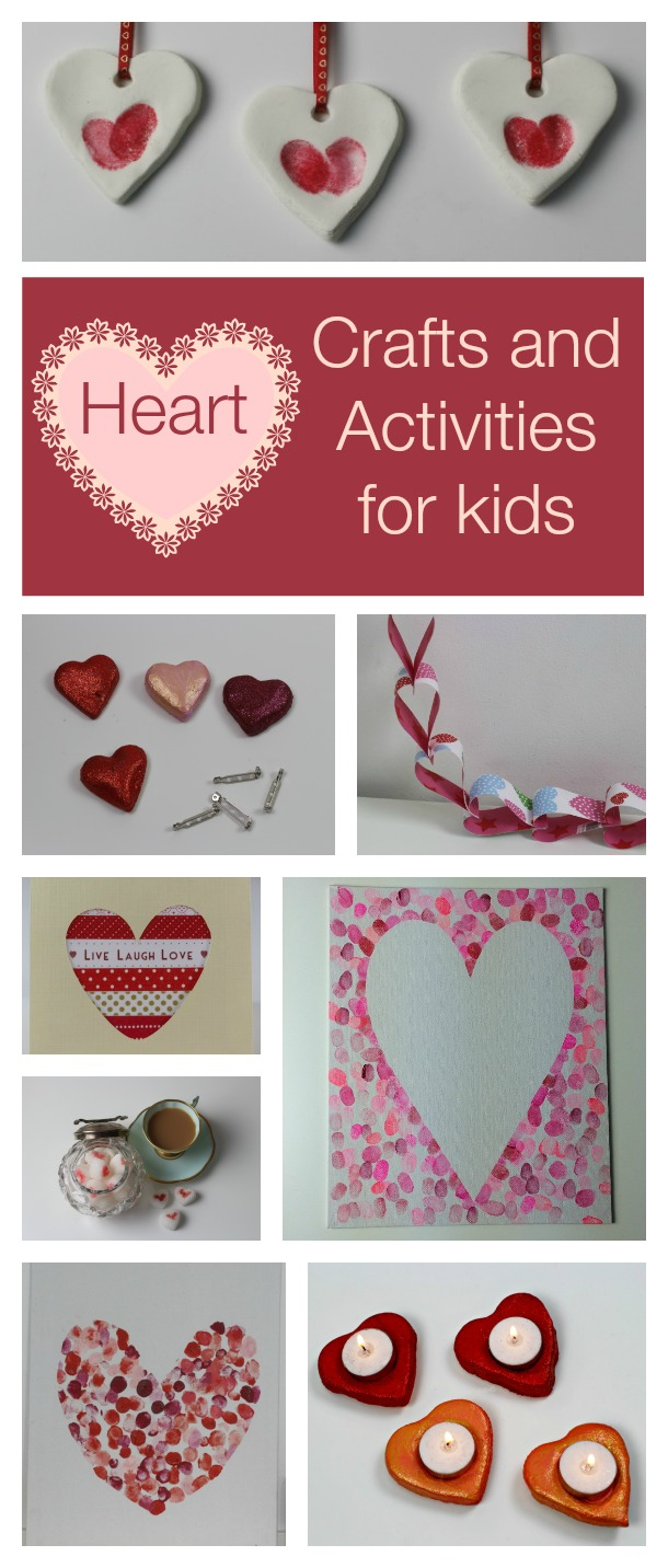 heart shaped crafts and activities for kids
