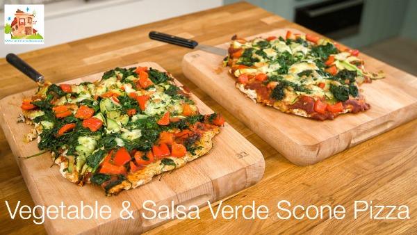 Vegetable & Salsa Verde Scone Pizza 2