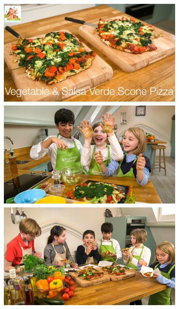 Vegetable & Salsa Verde Scone Pizza pin