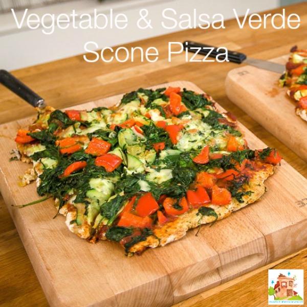 Vegetable & Salsa Verde Scone Pizza square