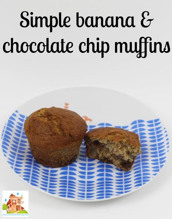 simple banana and choc chip muffins