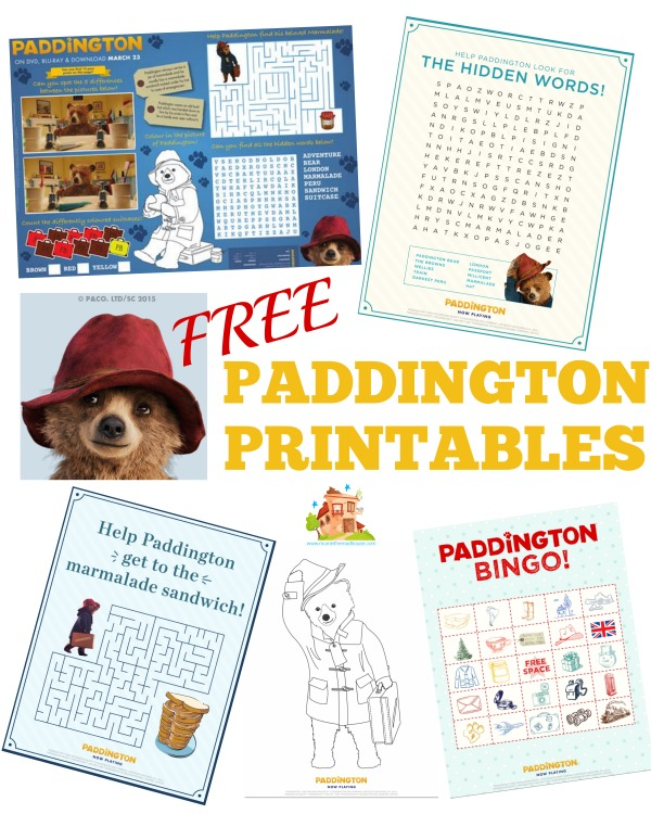 Free Paddington Printables: Paddington Bear Worksheets At Alzheimers-prions.com