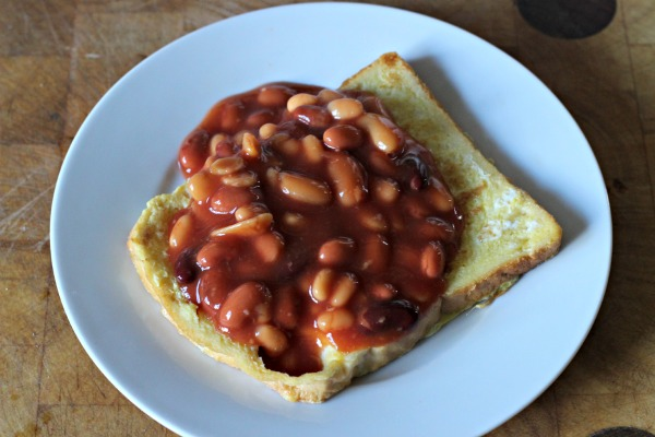 Eggy Bread With Beans