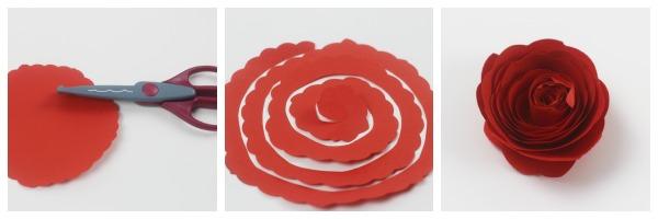 fancy edged paper rose