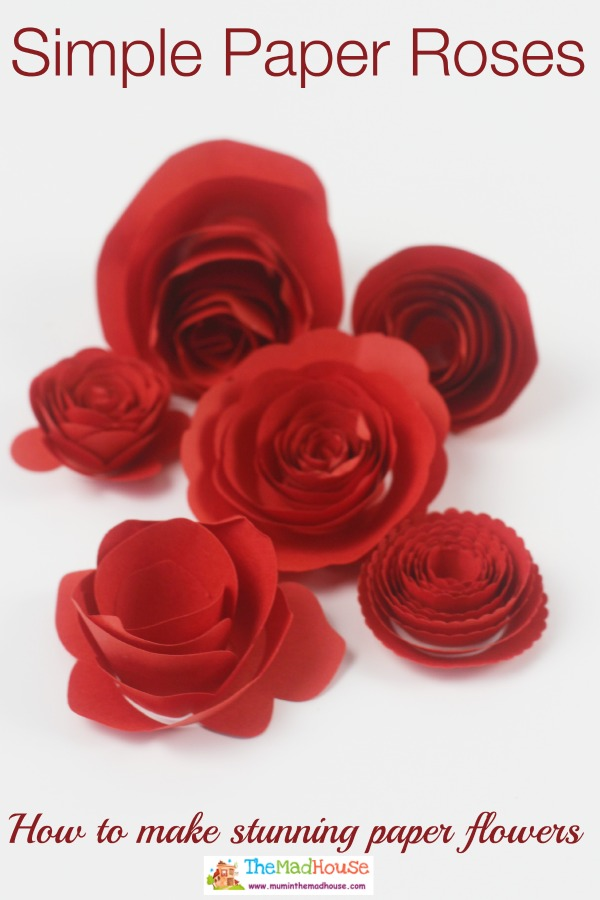 Make Simple Rose Flower | Paper roses, Paper flowers, Diy and ... | 900x600