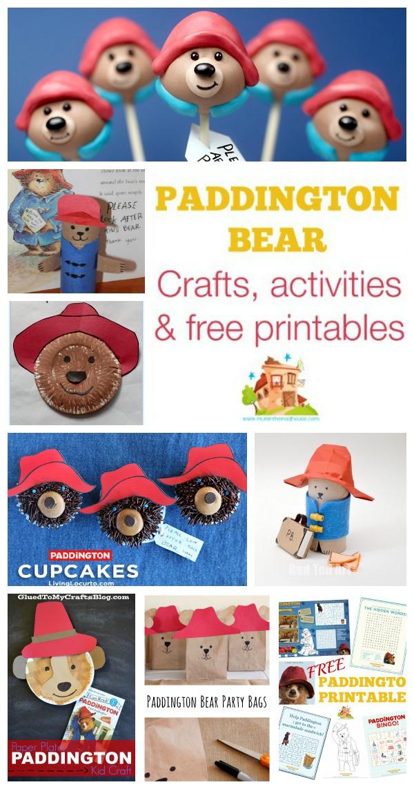 paddington bear crafts activities and free printables