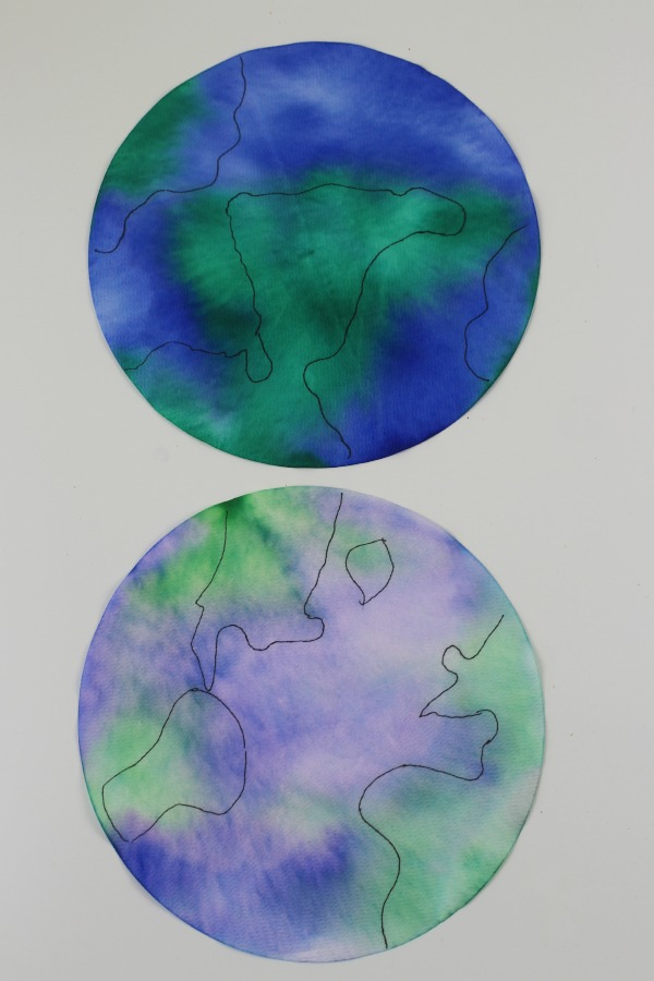 stained glass earths