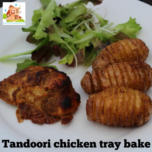 Tandoori chicken tray bake square