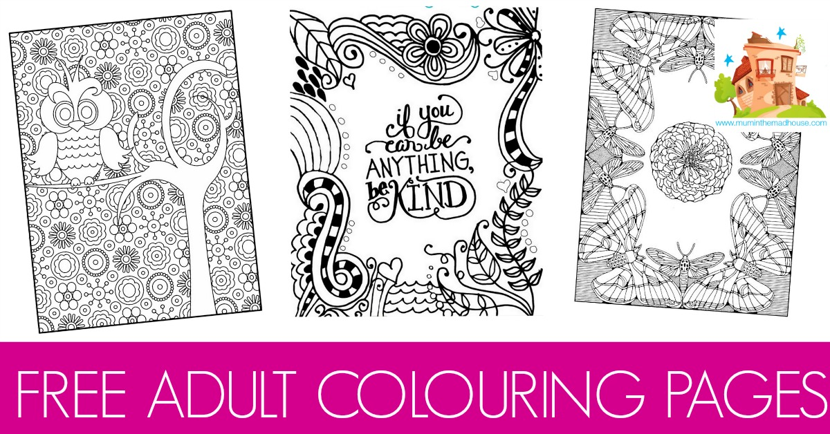 Free colouring pages for adults mum in the madhouse Coloring books for young adults