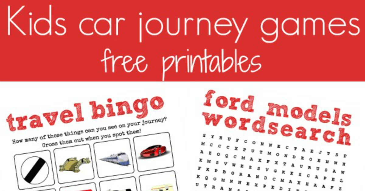 Road Trip Travel Printables And A Ford C Max Review Mum In The Madhouse