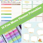 Ten Fabulous Free Meal Planning Printables