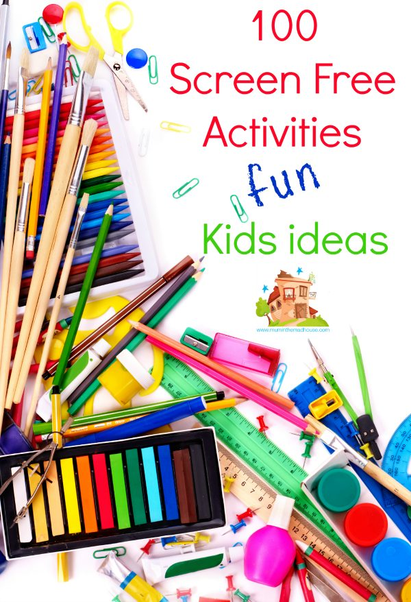 100 kids screen free activities