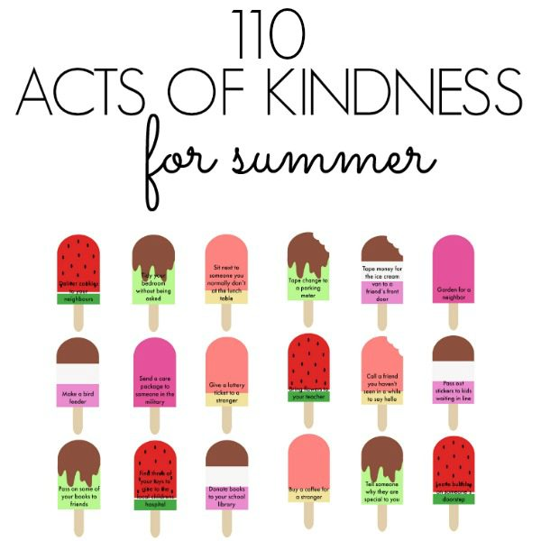 110 acts of kindness for summer square