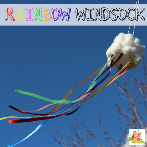 How to make a Rainbow Windsock How to make a rainbow windsock with a fab cloud wind catcher. This is a super fun kids craft, perfect for learning about the wind and the weather http://bit.ly/******/
