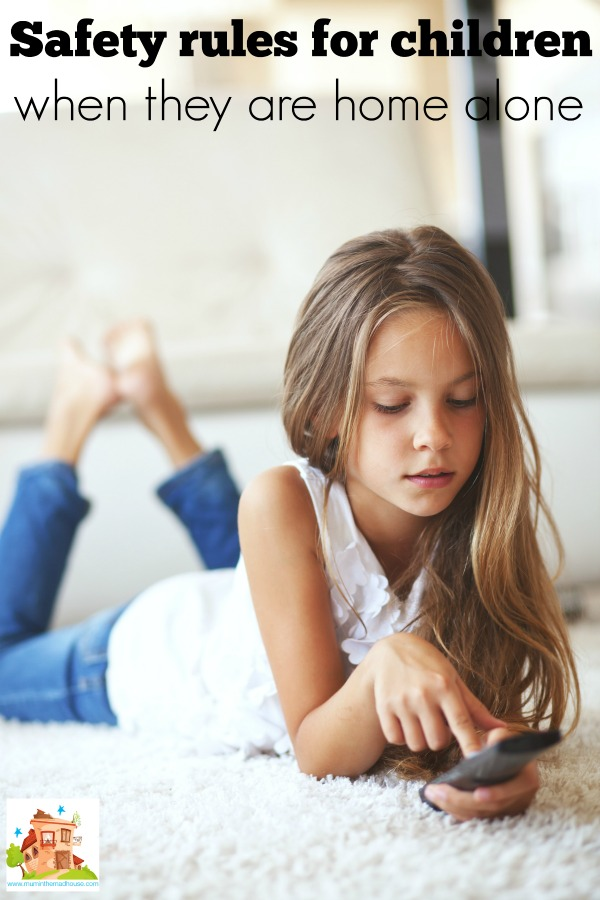 Safety rules for children when they are home alone