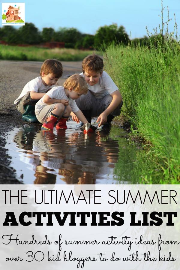 Ultimate summer activity list