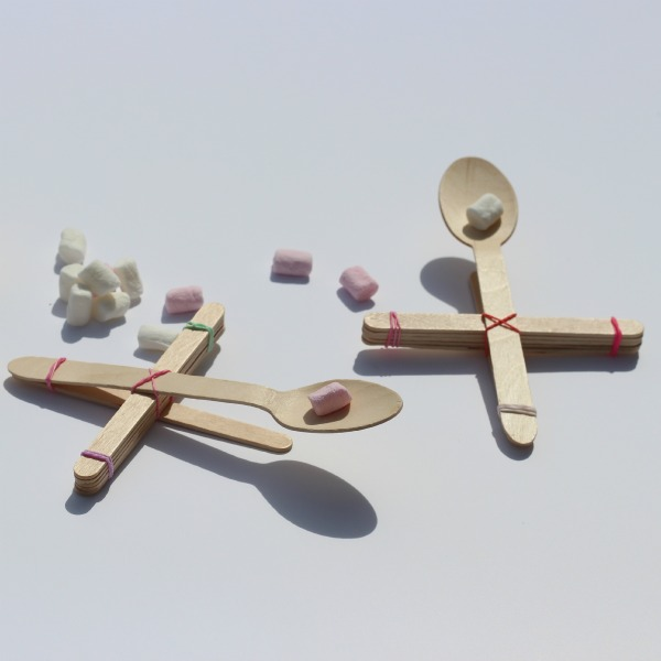 how to make a simple catapult with popsicle sticks